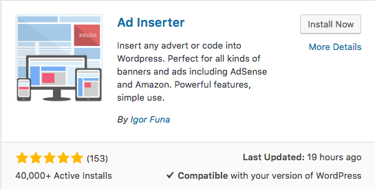 ad inserter wordpress plugin