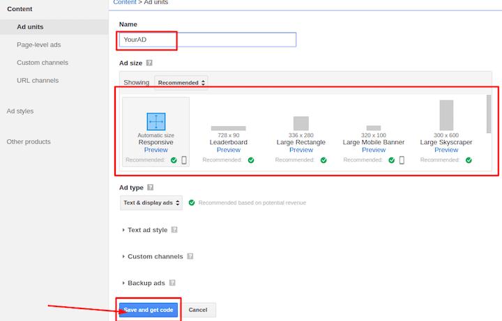 settings ads