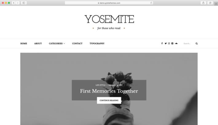 Yosemite WordPress teması