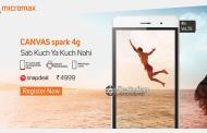 Micromax Canvas Spark 4G Launched At Rs 4,999