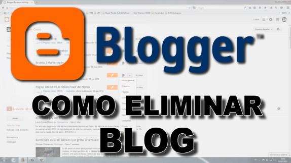 eliminar blog de blogger