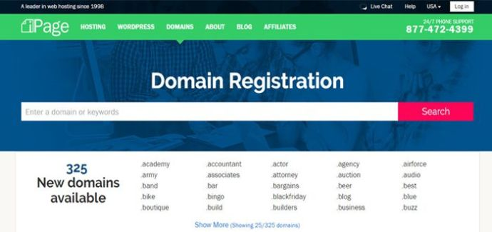 ipage domain names