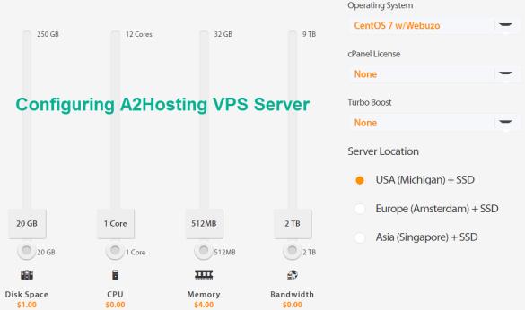configuring A2hosting linux VPS server