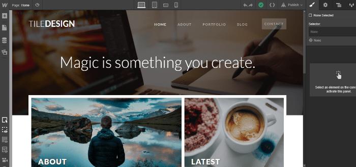 webflow website creator