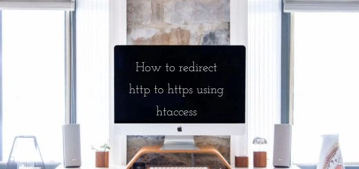 redirect http to https using htaccess