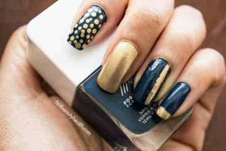 blue and gold nails » [HD Images] Wallpaper For Downloads | Easy Picture