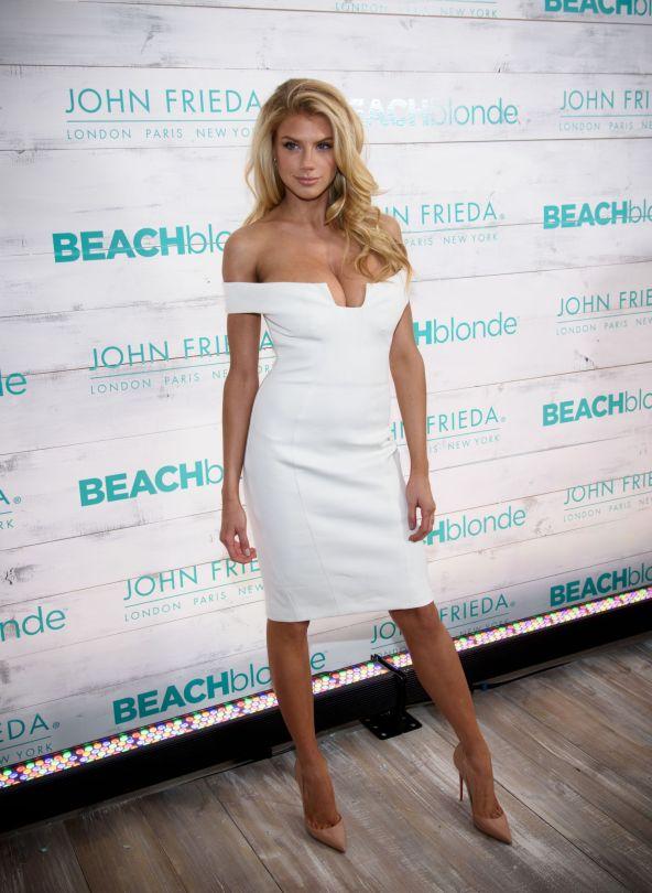 Charlotte McKinney - John Frieda Hair Care Beach Blonde Collection Party