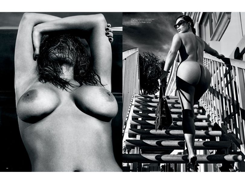 Kim Kardashian Naked in Love Magazine (Spring-Summer 2015)