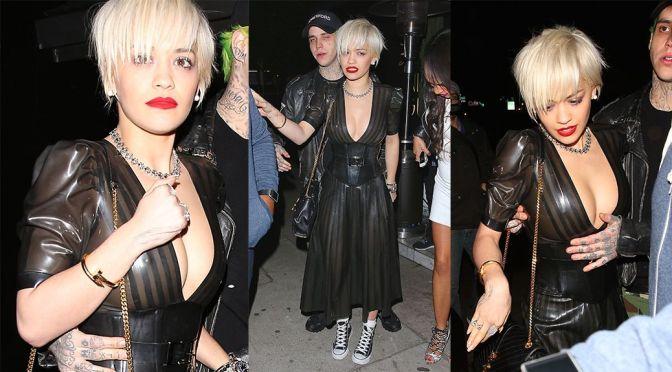 Rita Ora – Braless See-Through Candids in Hollywood