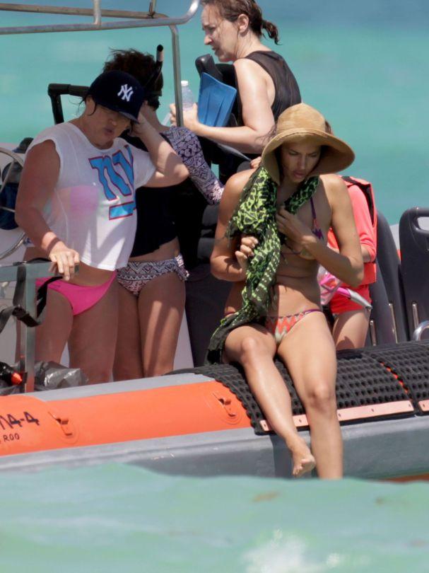 Irina Shayk - Bikini Candids in Mexico