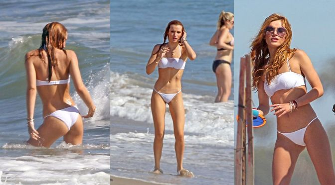 Bella Thorne – Bikini Candids in Los Angeles