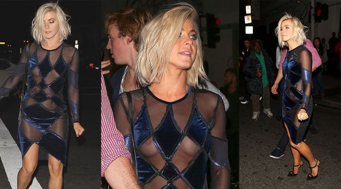 Julianne Hough – Braless See-Through Candids in Hollywood