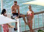 Nina Agdal - Bikini Candids in Miami