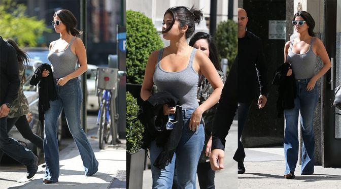 Selena Gomez – Braless Candids in New York