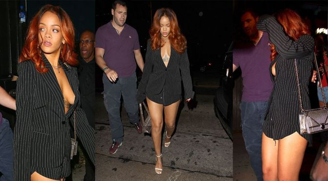 Rihanna – Braless Candids in Los Angeles