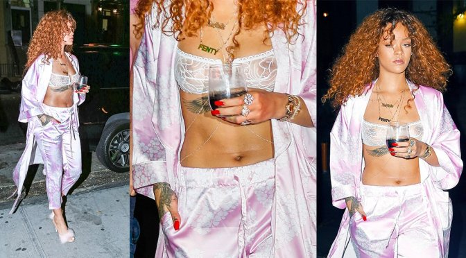 Rihanna – See-Through Candids in New York