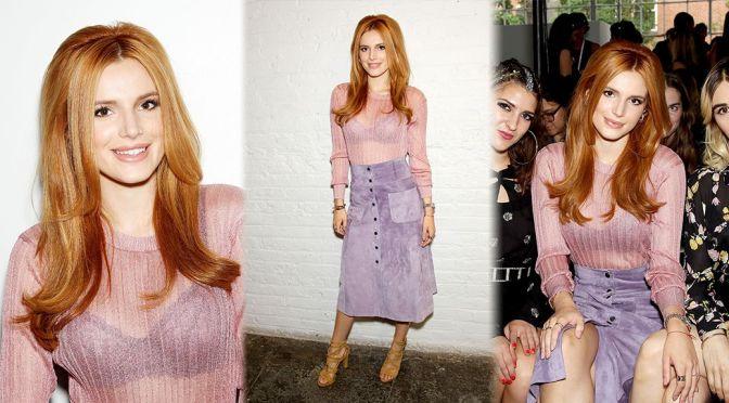 Bella Thorne – Jill Stuart Fashion Show in New York