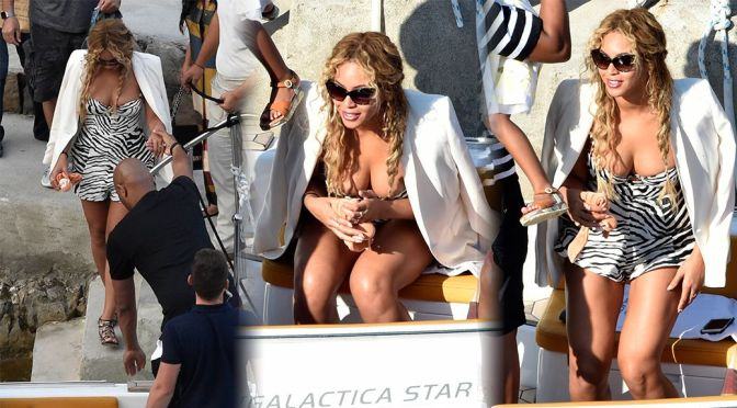 Beyonce – Candids in Italy