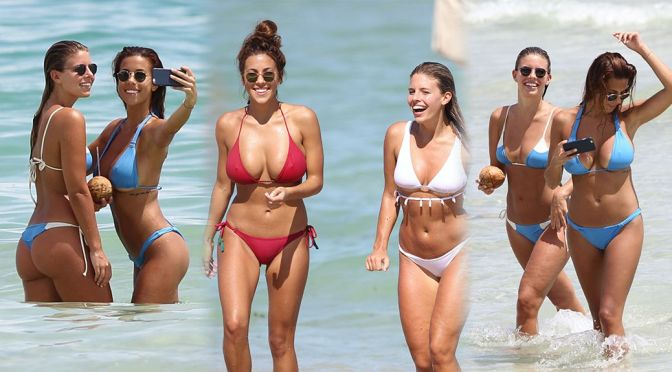 Devin Brugman and Natasha Oakley – Bikini Candids in Miami