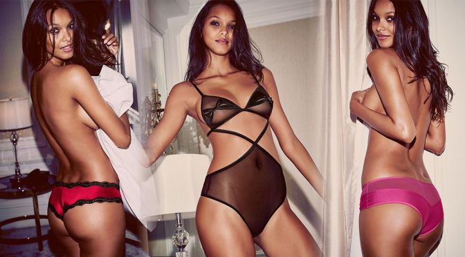 Lais Ribeiro – Victoria's Secret Lingerie Photoshoot
