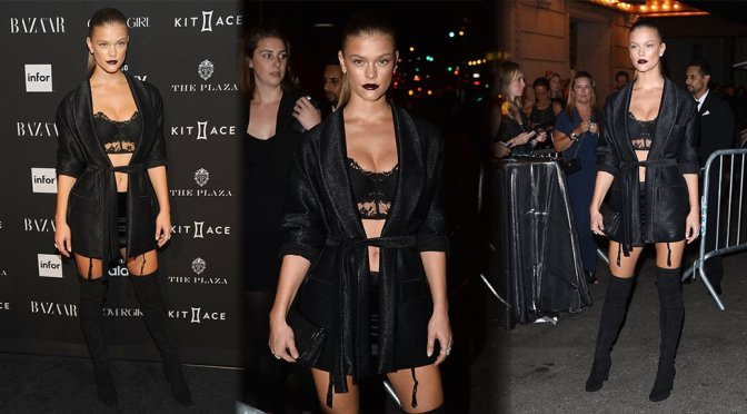 Nina Agdal – 2015 Harper's BAZAAR ICONS Event in New York