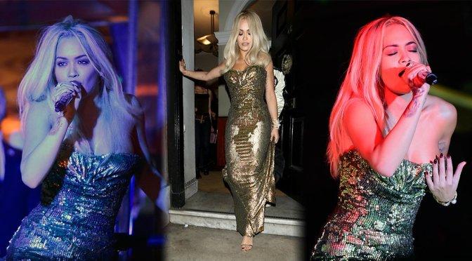 "Rita Ora Performs Live at ""Sexy Fish"" in London"