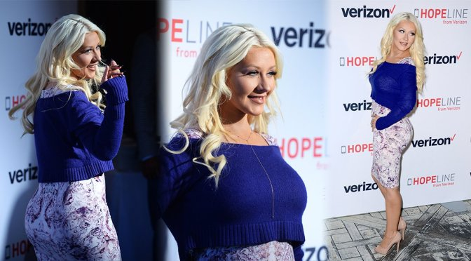 Christina Aguilera – Domestic Violence Awareness Event