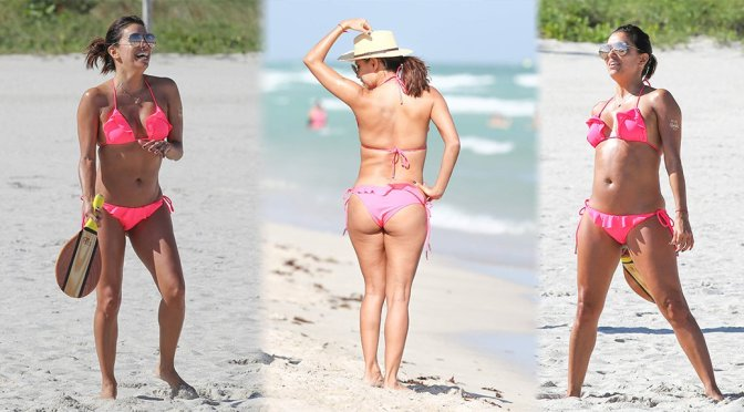 Eva Longoria – Bikini Candids in Miami