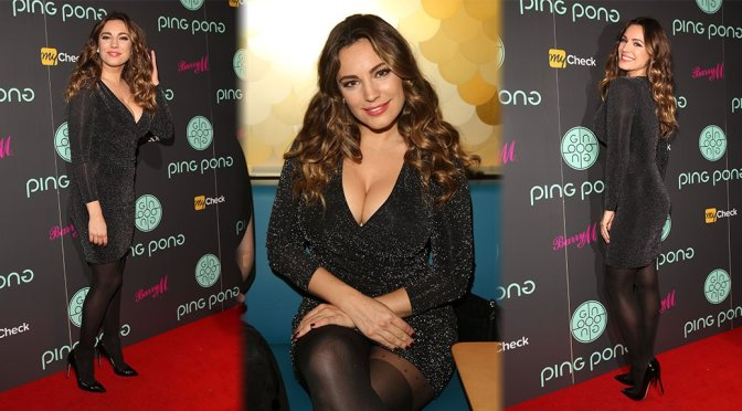 Kelly Brook - Ping Pong Pestaurant Launch in London