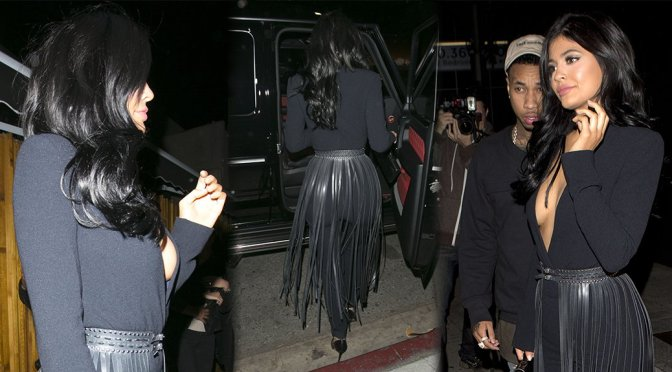 Kylie Jenner – Cleavage Candids in West Hollywood