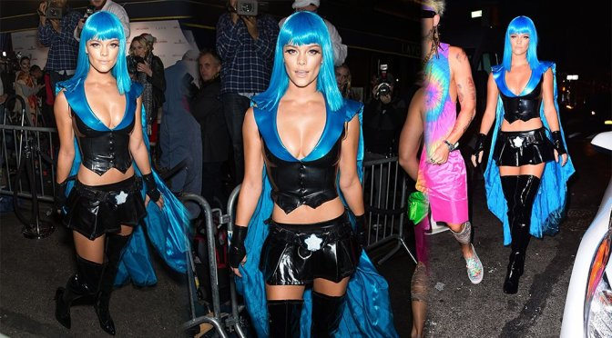 Nina Agdal – Heidi Klum Halloween Party