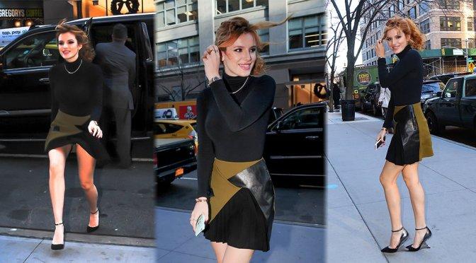 Bella Thorne – Leggy Candids in New York