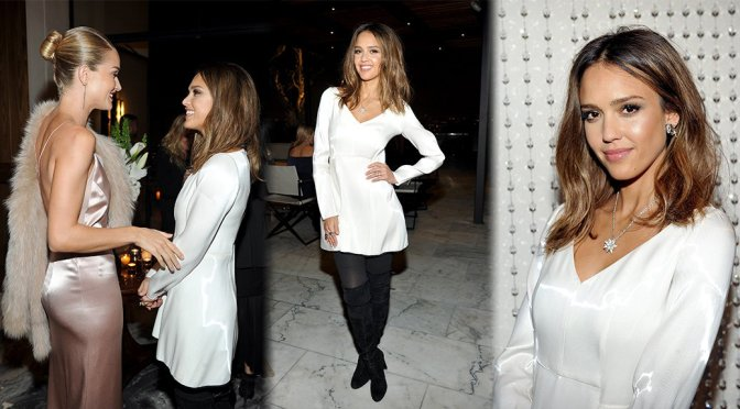 Jessica Alba – Galvan For Opening Ceremony Dinner in Los Angeles