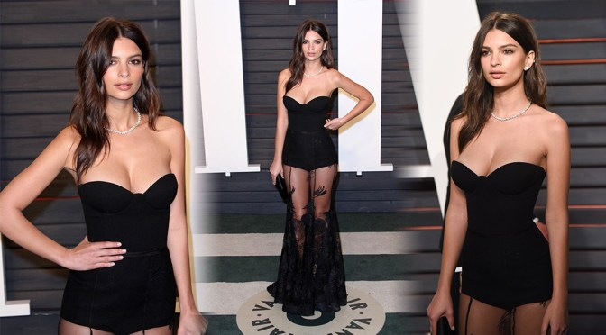 Emily Ratajkowski – 2016 Vanity Fair Oscar Party in Beverly Hills