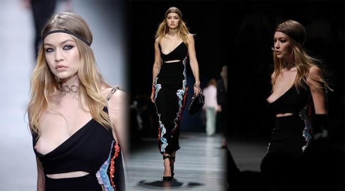 Gigi Hadid – Versace Fashion Show in Milan
