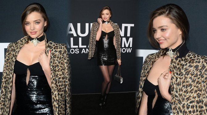 Miranda Kerr – Saint Laurent Fashion Sshow in Los Angeles