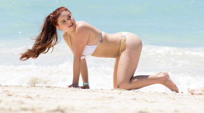 Ariel Winter – Bikini Candids in Bahamas