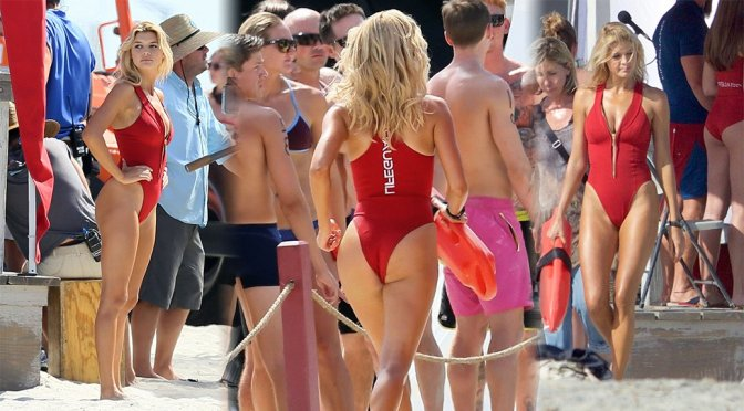 "Kelly Rohrbach – Swimsuit Candids on ""Baywatch"" Movie Set"
