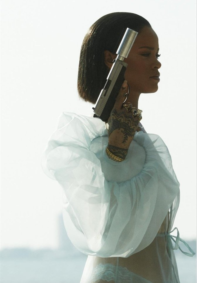 Rihanna - Needed Me Music Video Topless Photoshoot | Hot