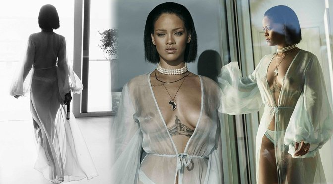 "Rihanna – ""Needed Me"" Music Video Topless Photoshoot"