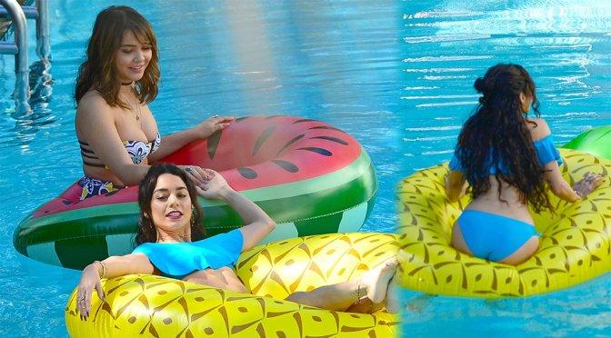 Vanessa Hudgens and Stella Hudgens – Bikini Candids in Miami