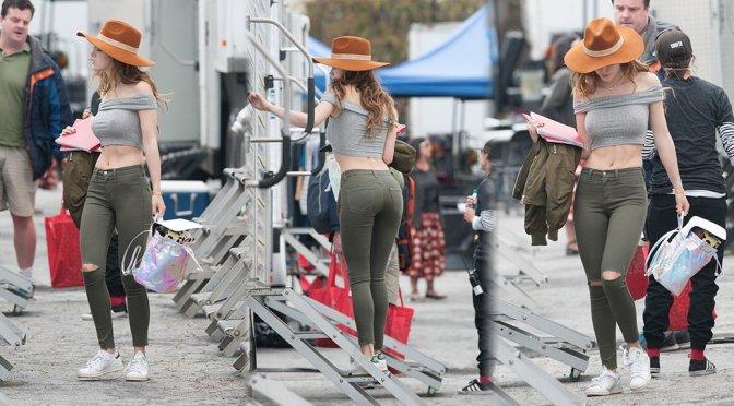 "Bella Thorne on ""You Get Me"" Movie Set in Los Angeles"