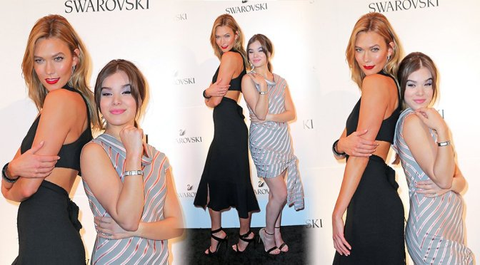Hailee Steinfeld & Karlie Kloss – Swarovski #bebrilliant Event in New York
