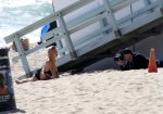 Kelly Rohrbach - Topless Photoshoot Candids in Malibu