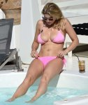 Ashley James - Bikini Candids in Greece