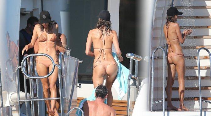 Alessandra Ambrosio – Bikini Candids in France