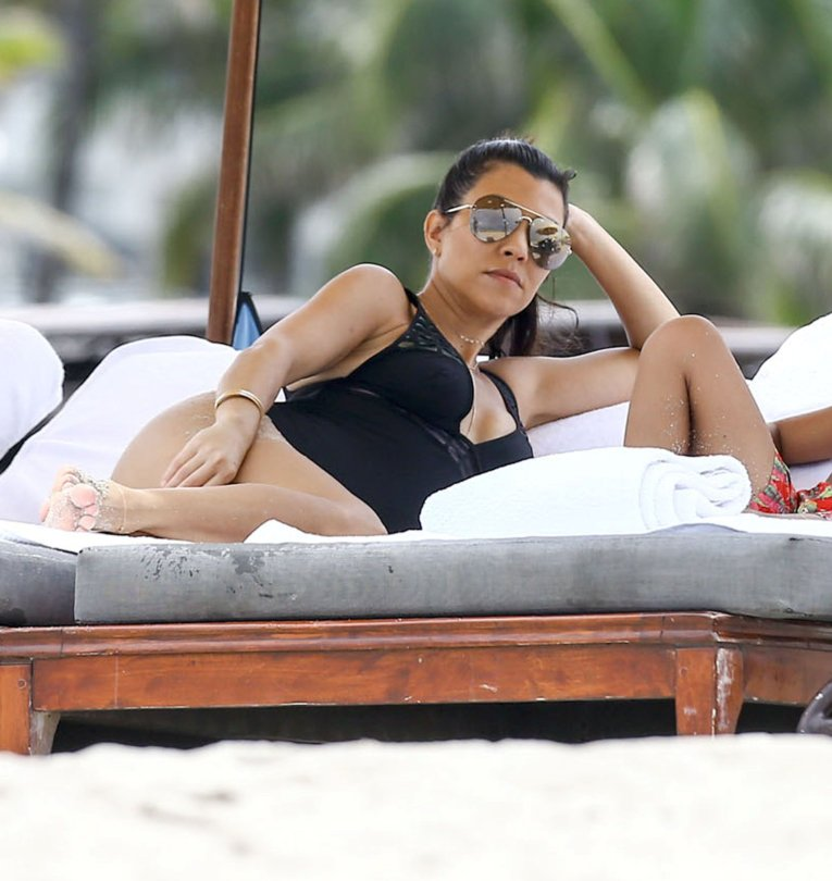 Kourtney Kardashian - Swimsuit Candids in Miami