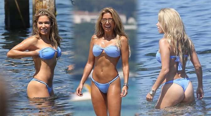 Sylvie Meis – Bikini Candids in St Tropez