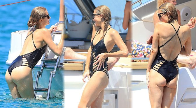 Paris Hilton – Swimsuit Candids in Ibiza