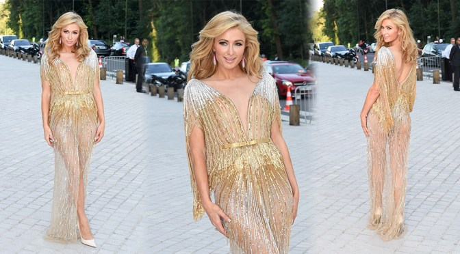 Paris Hilton – The Art Of Giving Love Ball Naked Heart Foundation in Paris